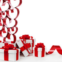 Love gifts on white