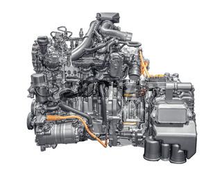 Moderner Plug-In-Hybrid Motor