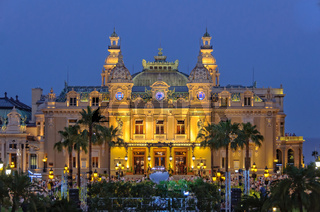 Monte Carlo Casino at night - Monaco