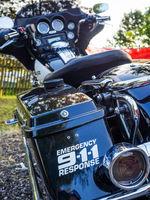 Tolles Motorrad der Polizei
