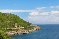 Genoese towers in Corsica