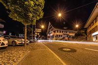 Malters bei Nacht, Luzern, Schweiz, Europa