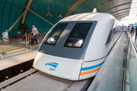 Shanghai Transrapid Maglev magnetic levitation train station in China