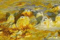 Fumarolen in schwefelhaltigen Ablagerungen, Geothermalgebiet Dallol, Danakilsenke,Äthiopien