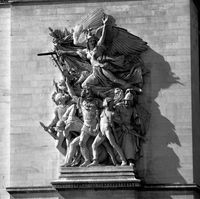 Triumphal arch from the Champs Elysees, sculptural group