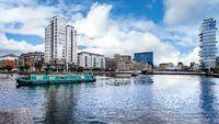 Dublin Docklands and river Liffey. Republic of Ireland