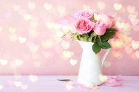 Strauss aus rosa Rosen