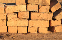 Mud bricks factory in Madagascar