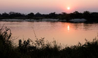 Pink sunset in the Makgadikgadi pans