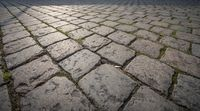 Cobble stone pavement background
