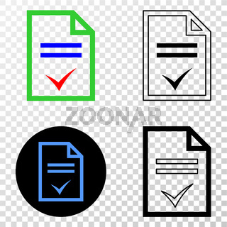 Agreement Page Vector EPS Icon with Contour Version