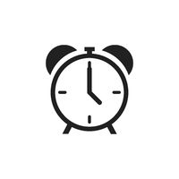 Alarm clock icon isolated on white background. Time retro symbol. Classic old alarm.