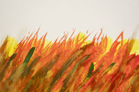 red, orange, yellow, and green watercolor abstract background