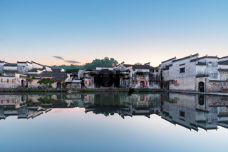 hinese ancient houses and reflection