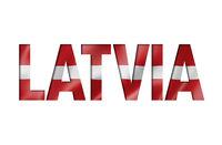 latvian flag text font