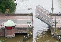 Open bridge in the Netherlands