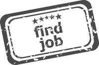find job grunge rubber stamp isolated on white background