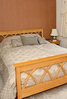 Modern oak bed