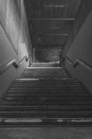 Stone stairs from an underground passage