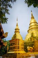 Wat Phra Singh golden stupa, Chiang Mai, Thailand