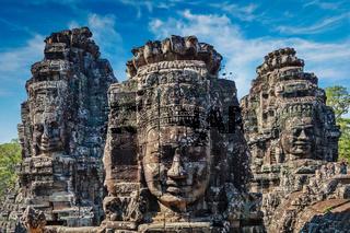 Faces of Bayon temple, Angkor, Cambodia