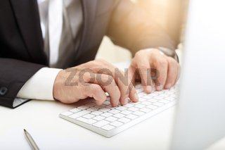 Business man using modern computer