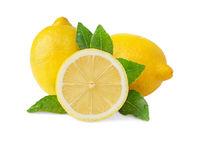 groupe of fresh lemons