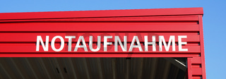 Notaufnahme means casualty or accident and emergency department in German