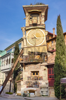 Leaning clock tower