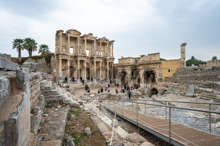 The Library of Celsus in Ephesus Selcuk, Izmir province Turkey