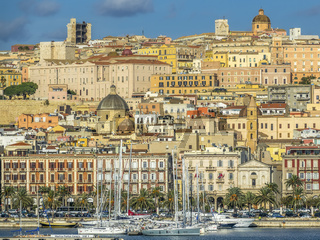 View From The Harbour, Cagliari, Sardinia, Italy