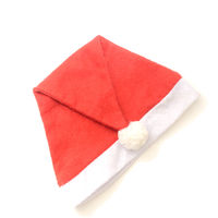 Santa Claus hat isolated on white background.Flat lay view.