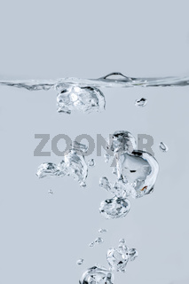 Air bubbles generated in the studio