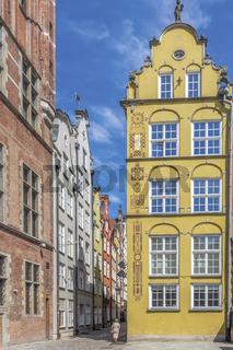 Colourful Ornate Building, Long Street, Gdansk, Poland