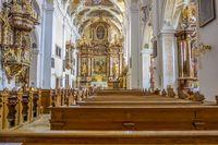 church in Frauenkirchen interior