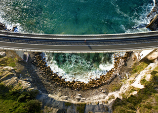 Looking down on Sea Cliff Bridge