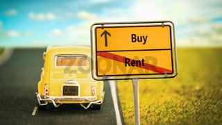Street Sign Buy versus Rent