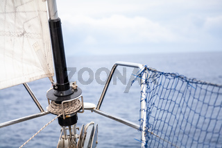 Sailing boat front background