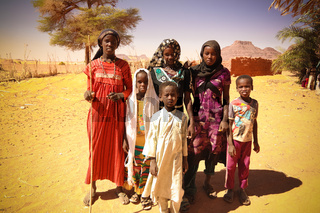 Portrait of Toubou, or Tubu people in the Demi village , Fada, Ennedi, Chad