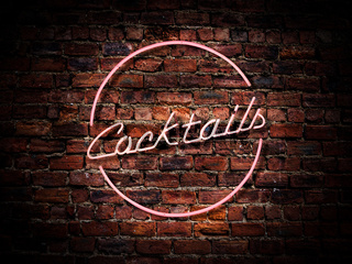 Pink Neon Cocktails Sign