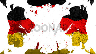 Scattered Germany flag