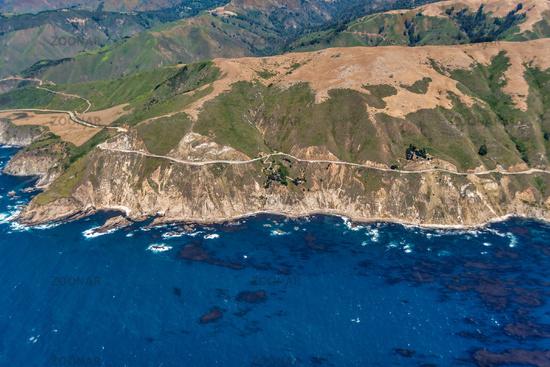 Highway 1 in California Aerial Photo