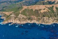 Highway 1 in California Aerial Photo