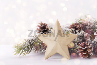 Modern Christmas or New year decoration