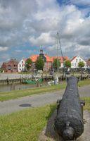 Toenning an der Eider auf der Halbinsel Eiderstedt,Nordfriesland,Schleswig-Holstein,Deutschland