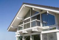 Detail eines modernen Einfamilienhauses