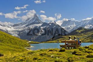 Am Bachalpsee, Grindelwald, Berner Oberland, Schweiz