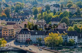 Rheinbrücke von Schaffhausen nach Feuerthalen, Kanton Zürich