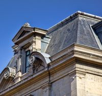 A Dormer window of classical Hellenic architectural form