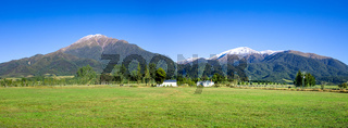 Mount Taylor and Mount Hutt scenery in south New Zealand